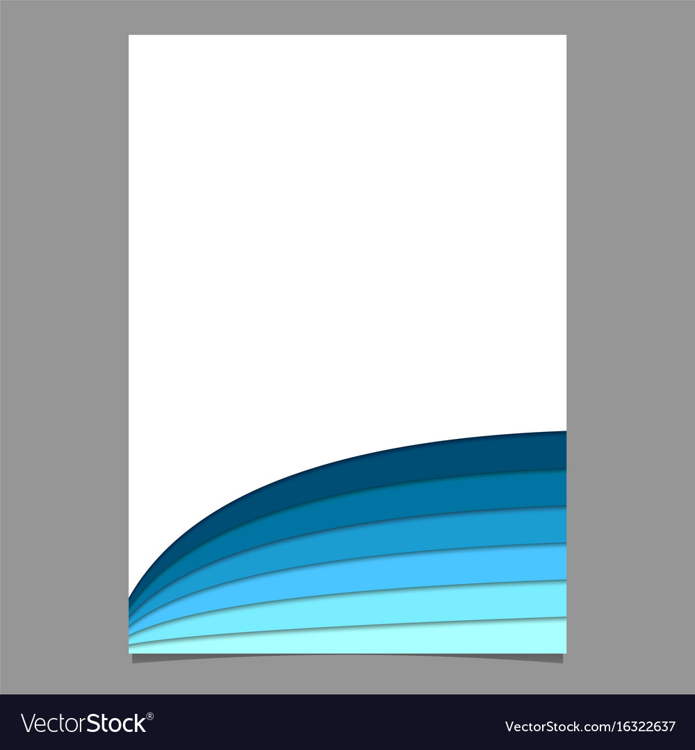 Blank Brochure Template From Curved Stripes In Vector Image - Brochure blank template