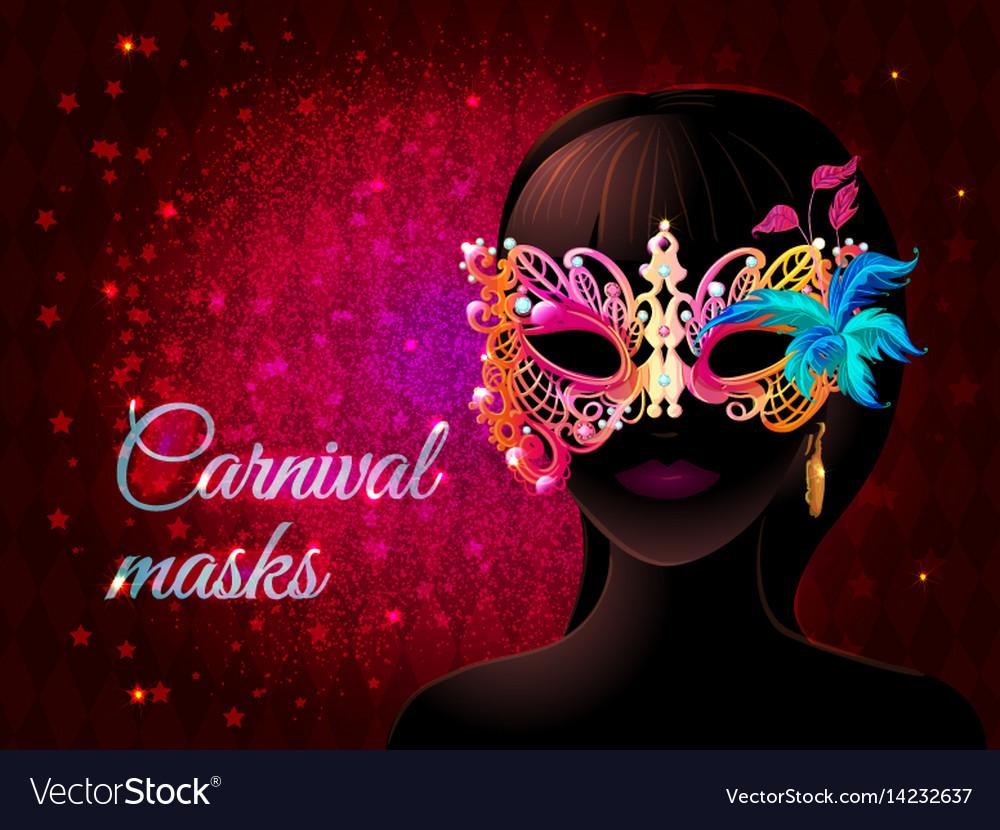 cartoon masquerade party template royalty free vector image