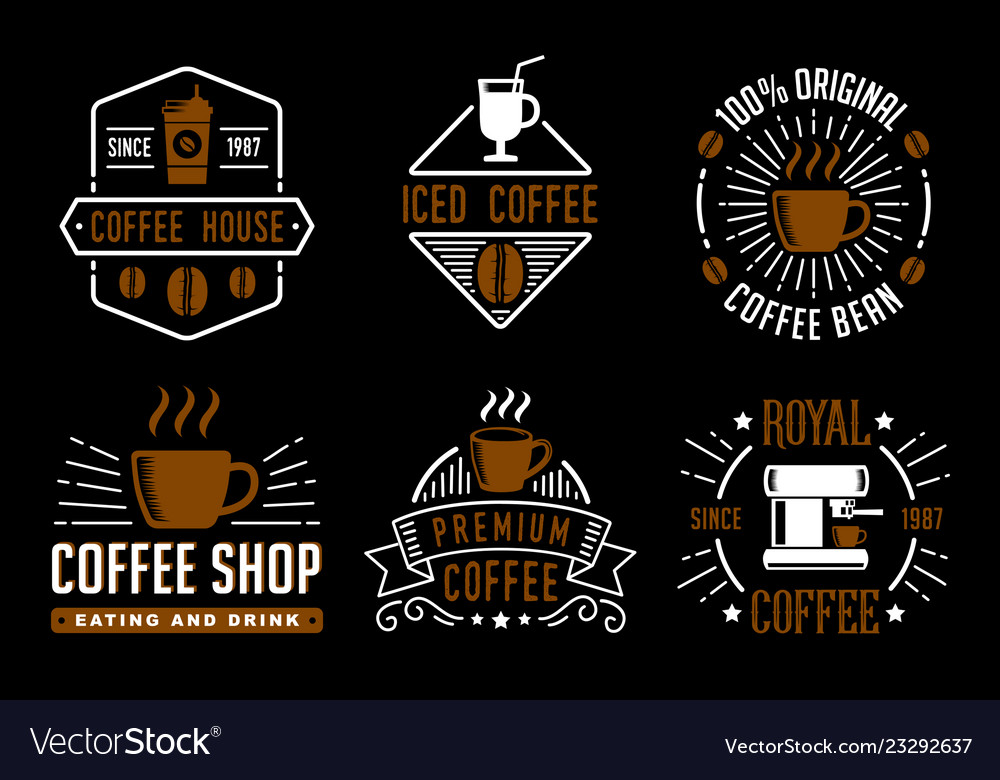 Coffee vintage badge and logo good for your brand