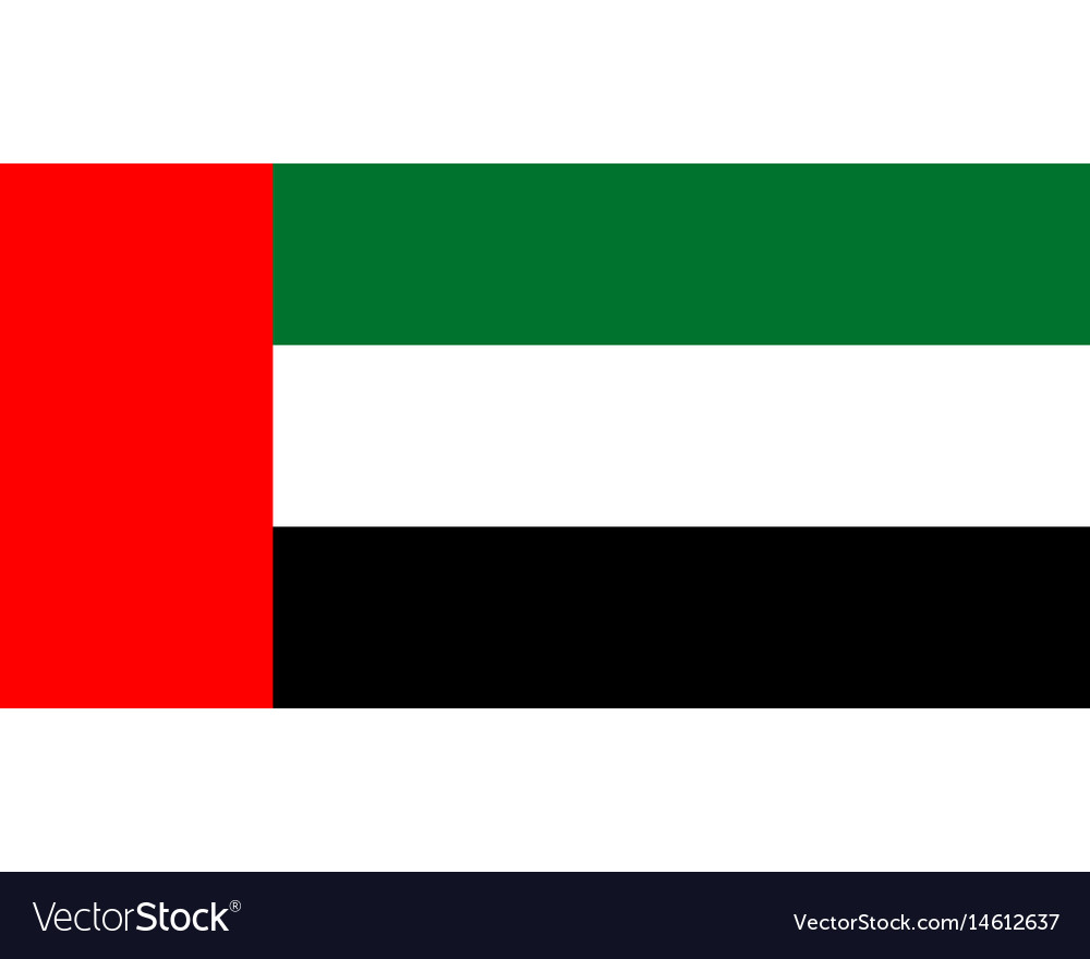 Colored flag of the united arab emirates