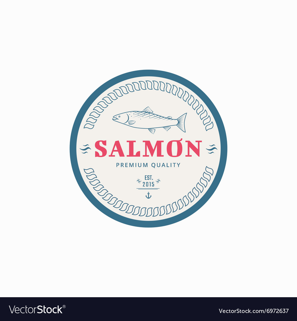 Fishing label vector image