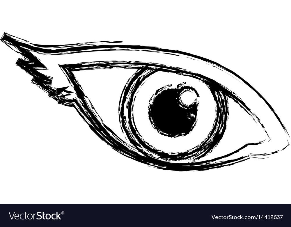 Human Eye Symbol Royalty Free Vector Image Vectorstock