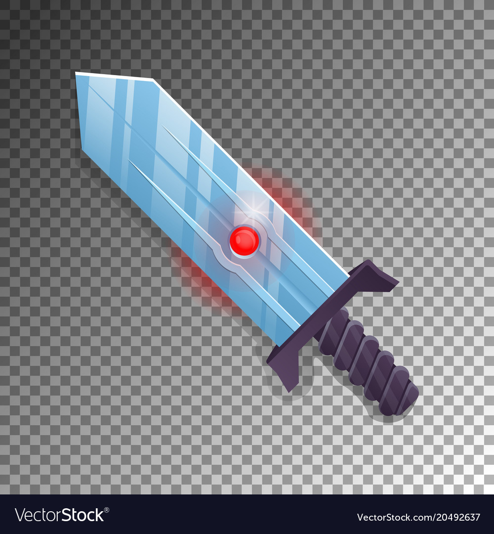 Magic broadsword isolated game element