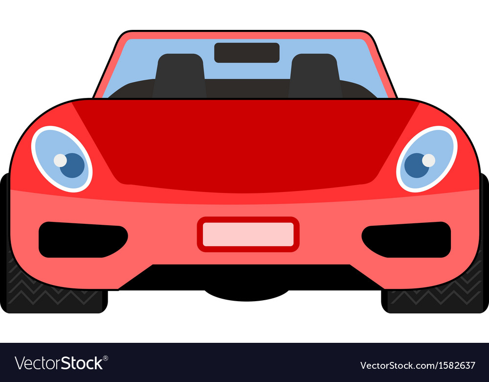 Red Car Front View Royalty Free Vector Image Vectorstock