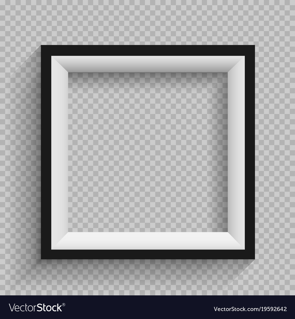 Black and white frame transparent Royalty Free Vector Image