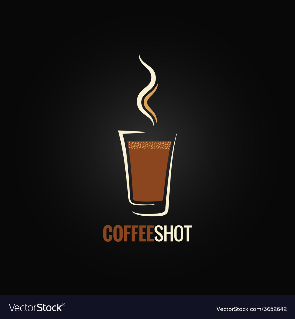Coffee shot glass design background vector image