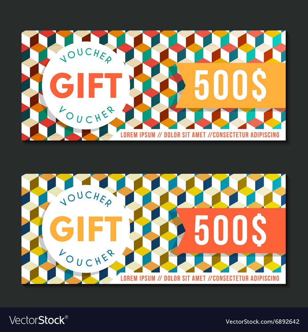 Gift voucher templates modern design
