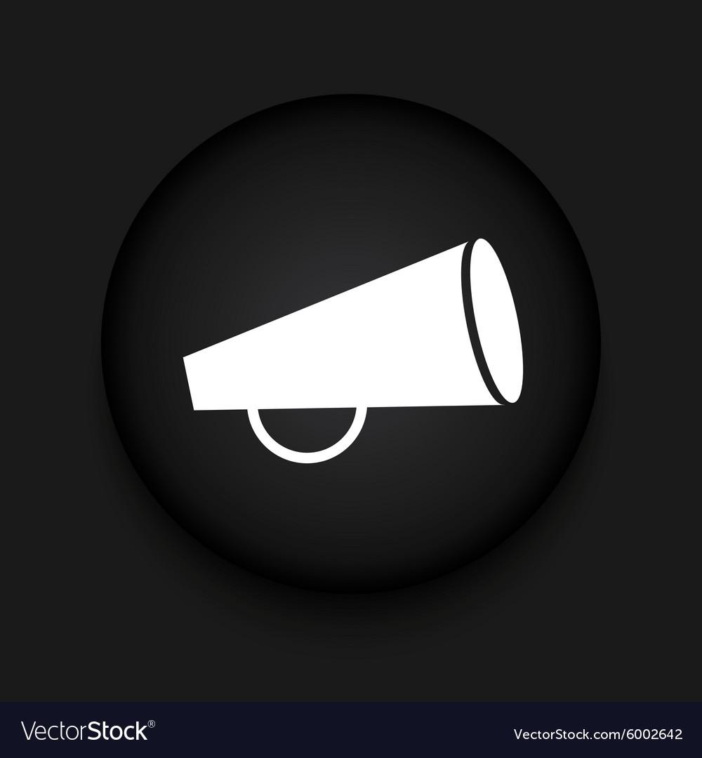 Modern loudspeaker black circle icon