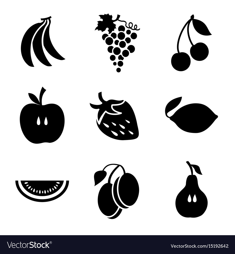 Various fruits on a white background