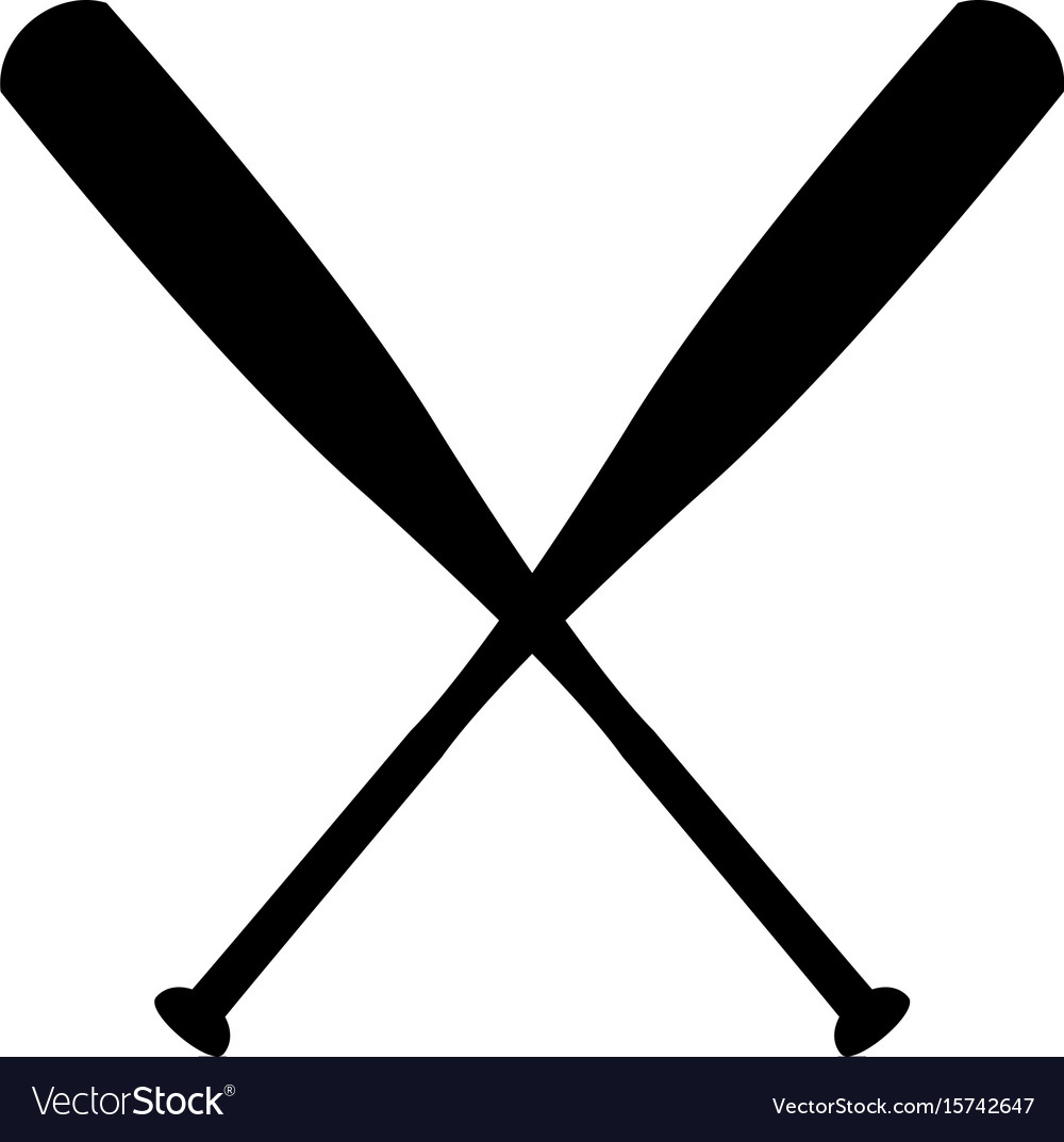 baseball bat royalty free vector image vectorstock rh vectorstock com baseball bat vector free baseball bat vector free download