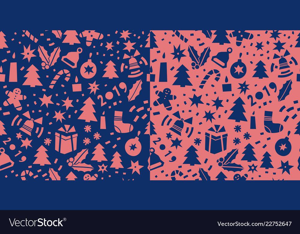 Christmas cute style seamless pattern
