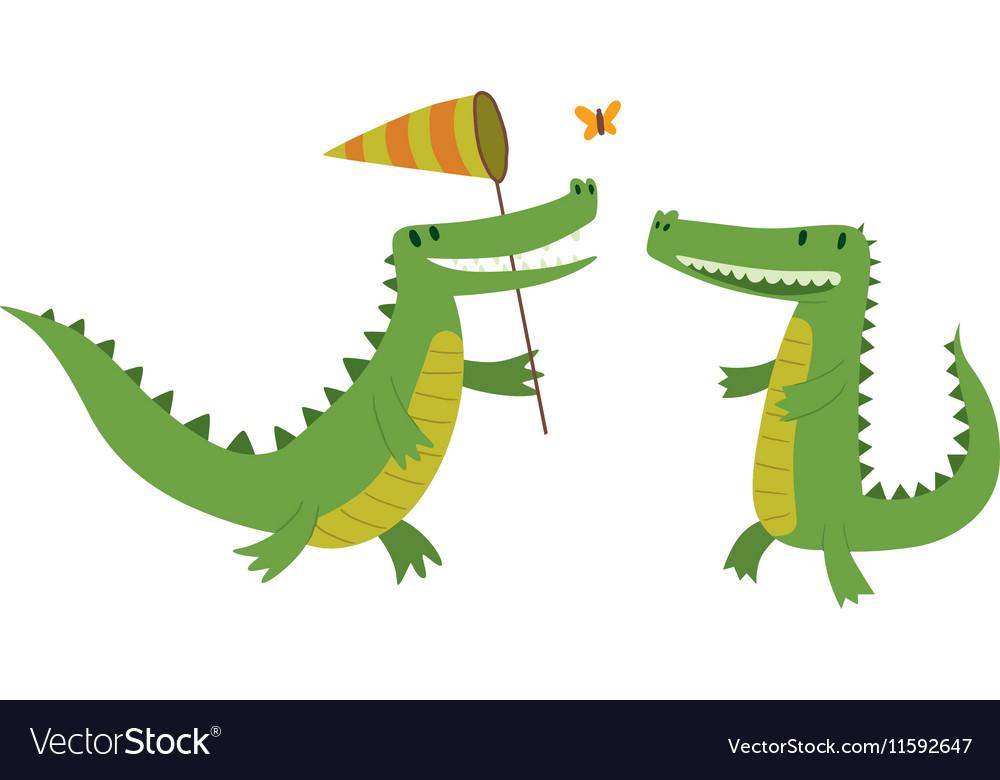 Cute crocodile character