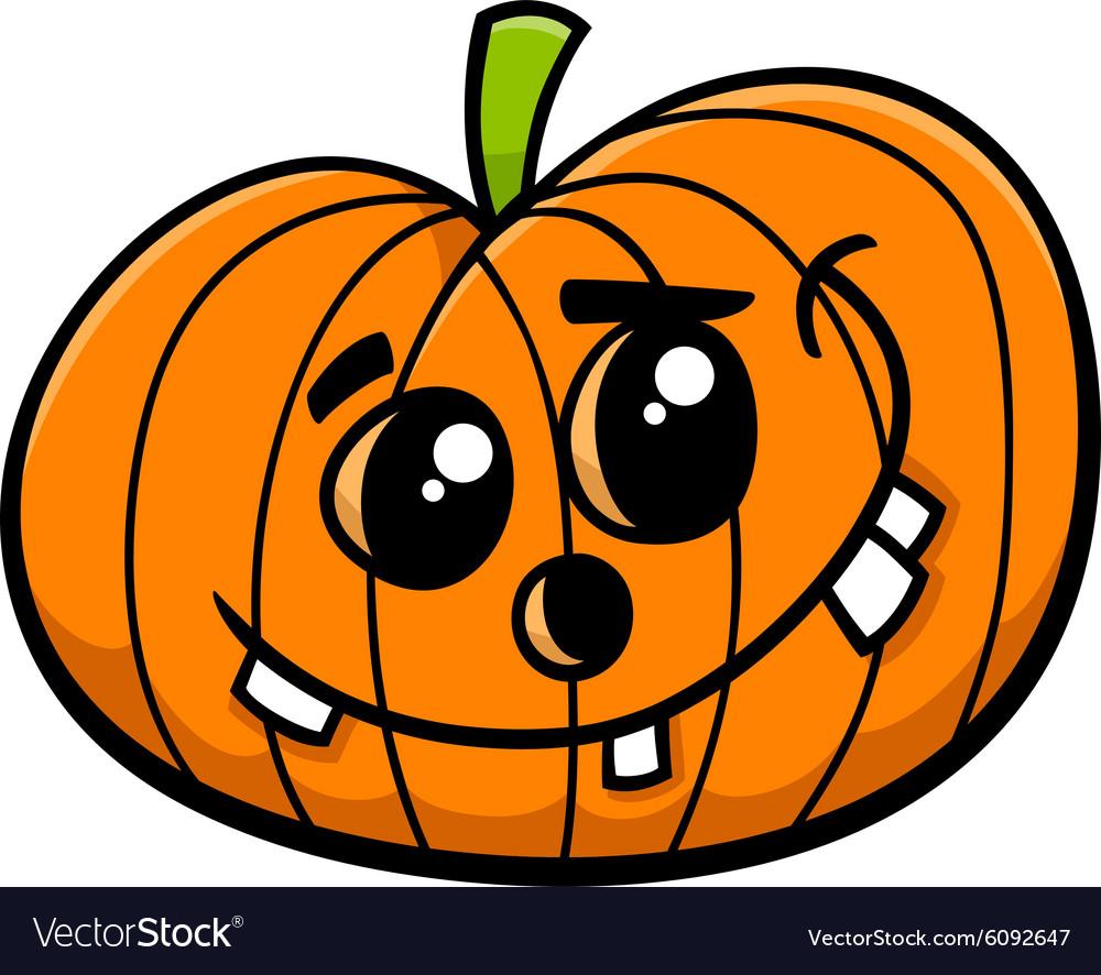 Jack halloween pumpkin cartoon vector image