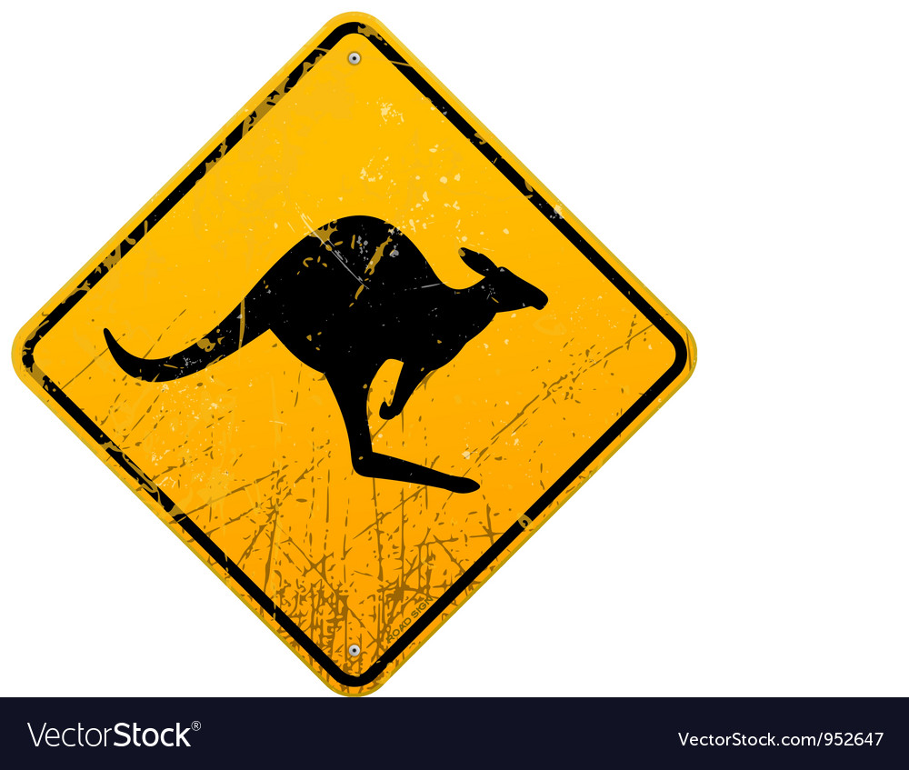 Dinosaur Australian Style Road Sign Reproduction Vintage Style Road Sign