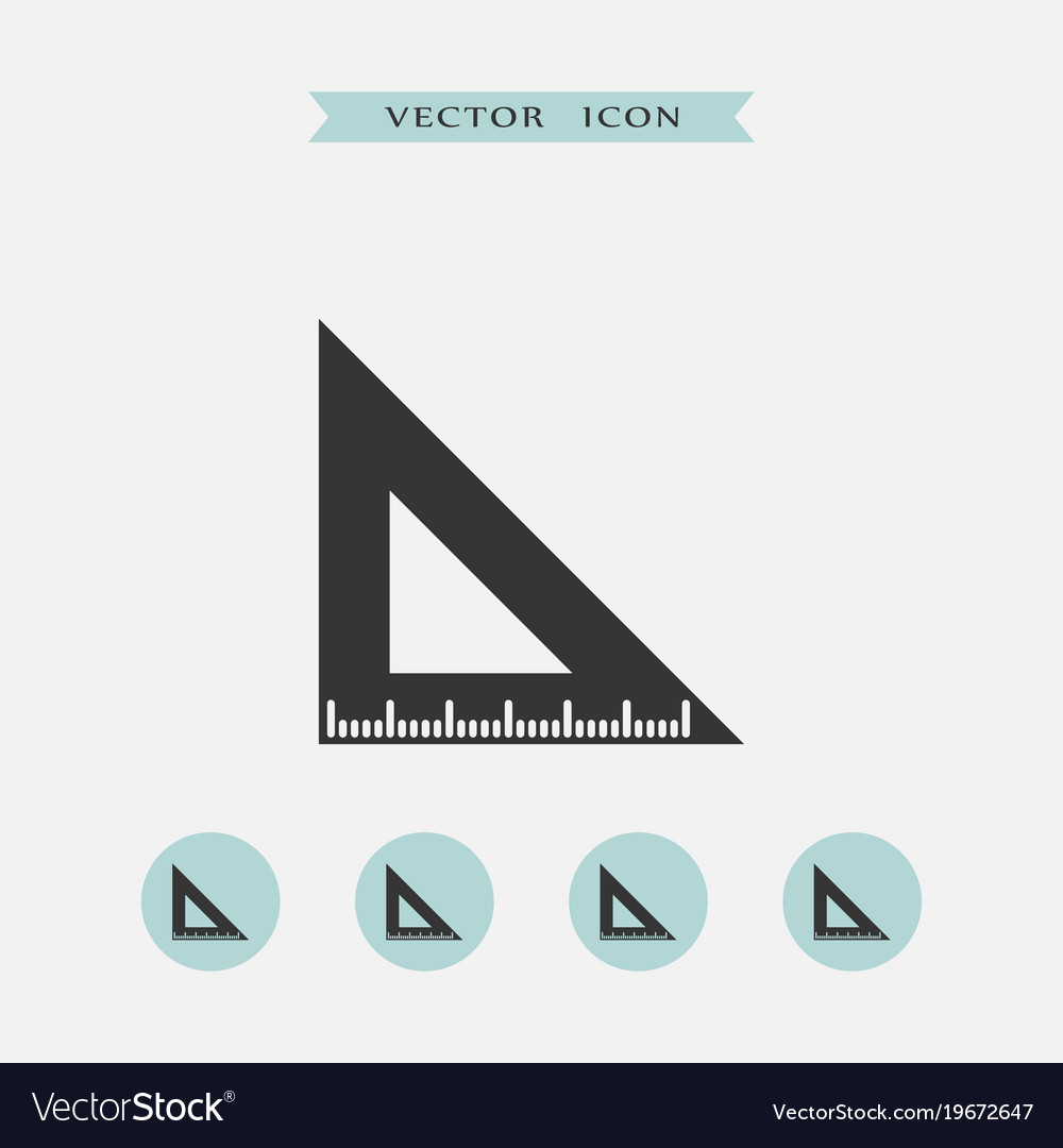 Ruler icon simple