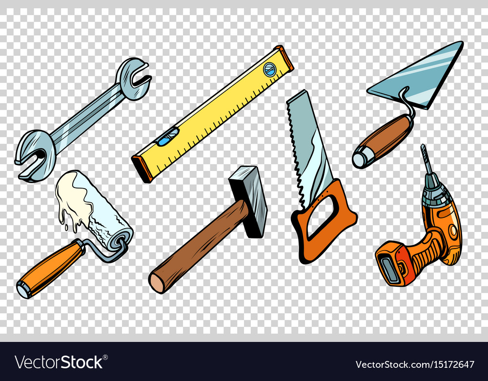 Set repair tools isolated background