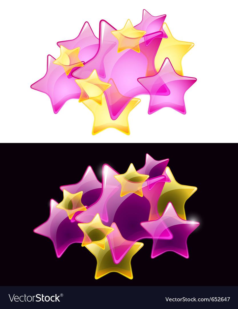 Stars with transparency