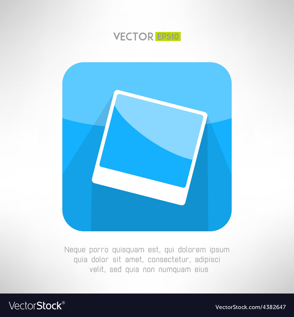 Vintage photo frame icon in modern clean and