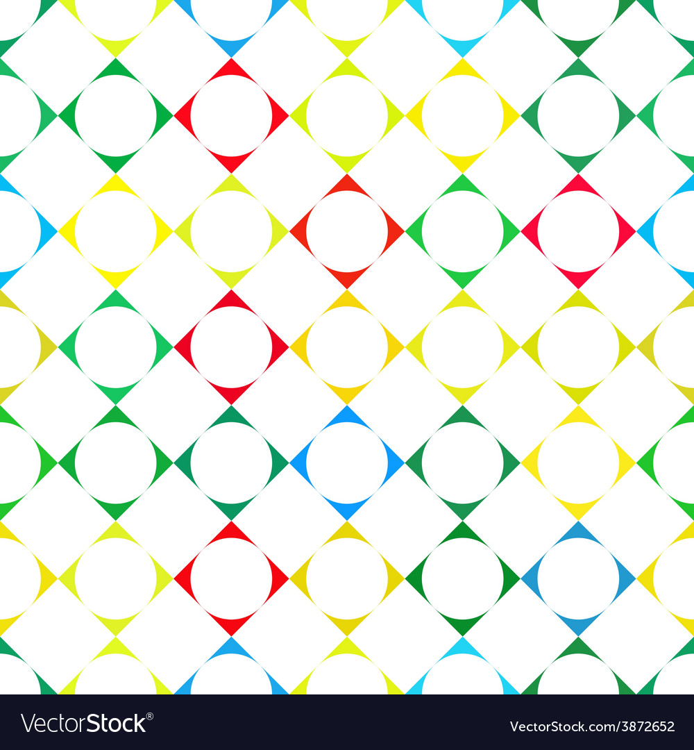 Abstract colorful retro squares seamless