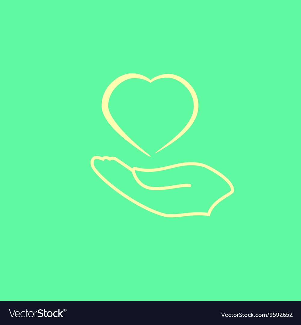 Arm with heart icon vector image