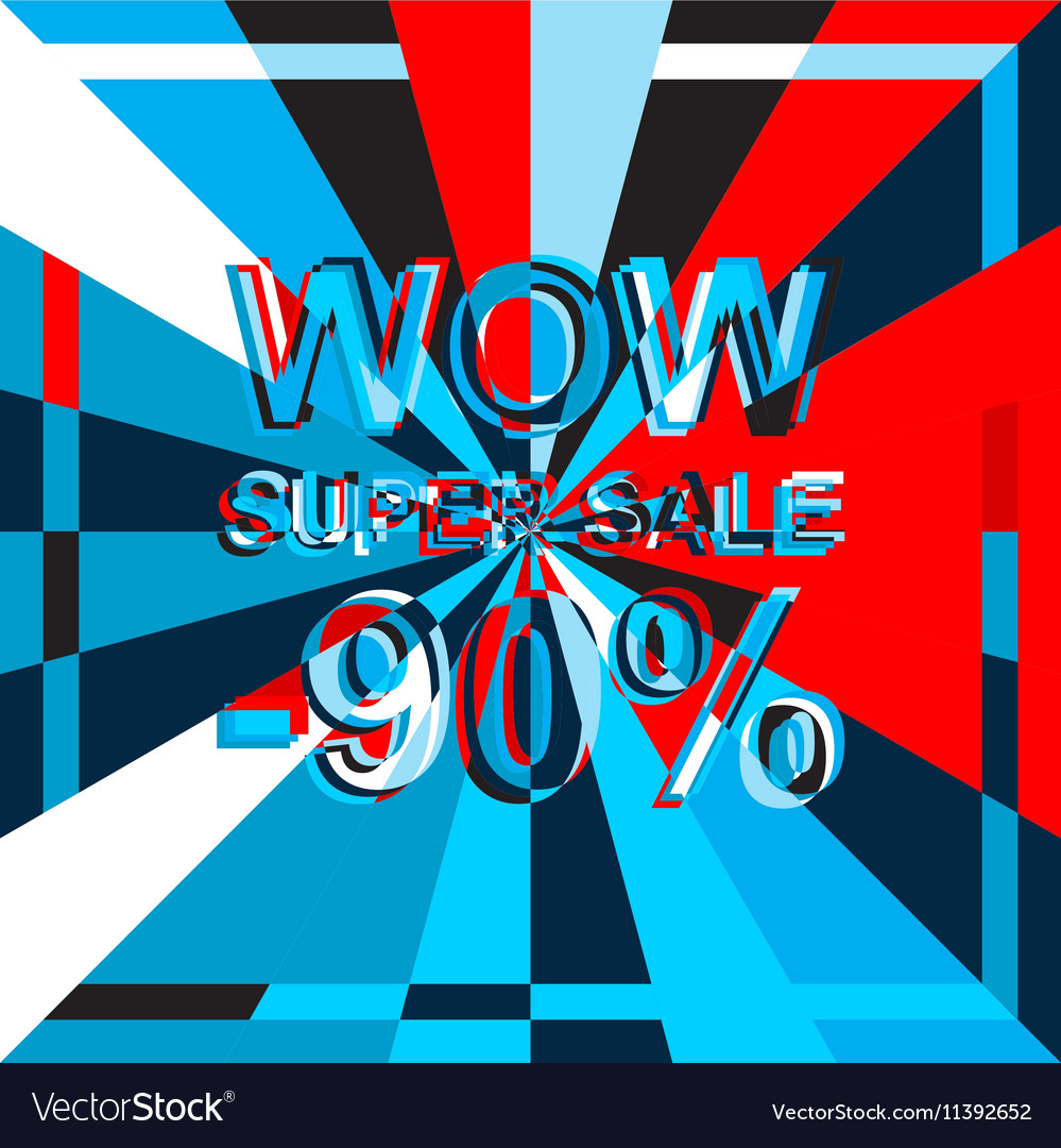 Big ice sale poster with WOW SUPER SALE MINUS 90