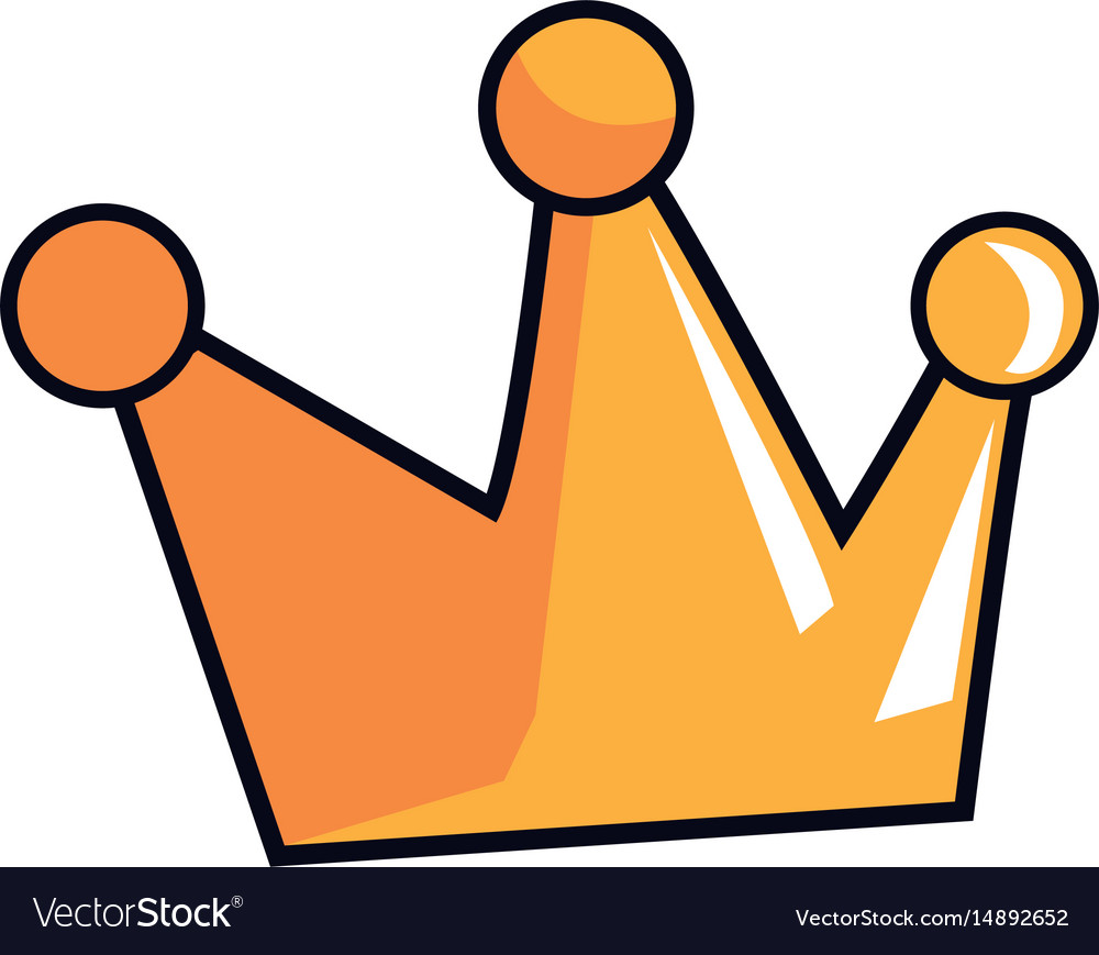Cartoon Crown Royal Fairy Tale Emblem Royalty Free Vector Almost files can be used for commercial. vectorstock