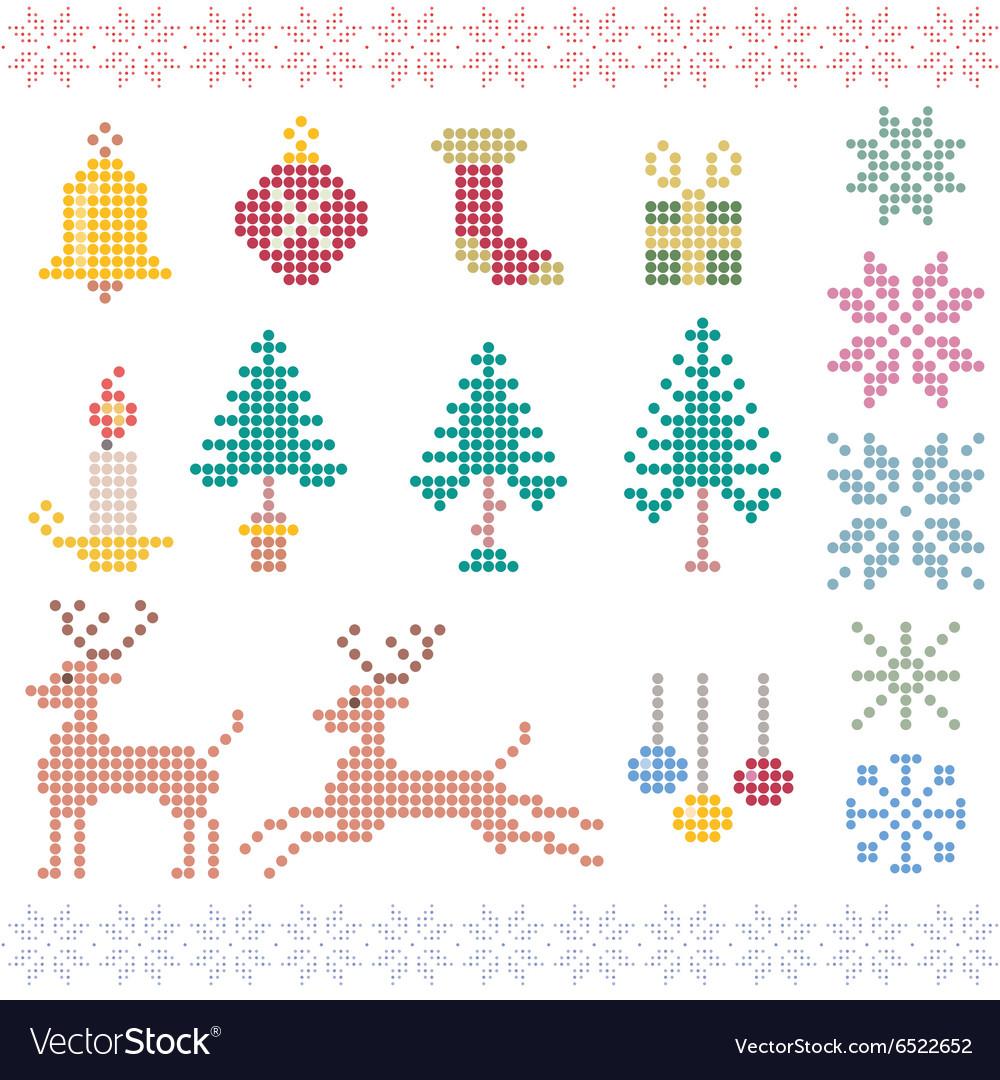 Christmas winter pixels