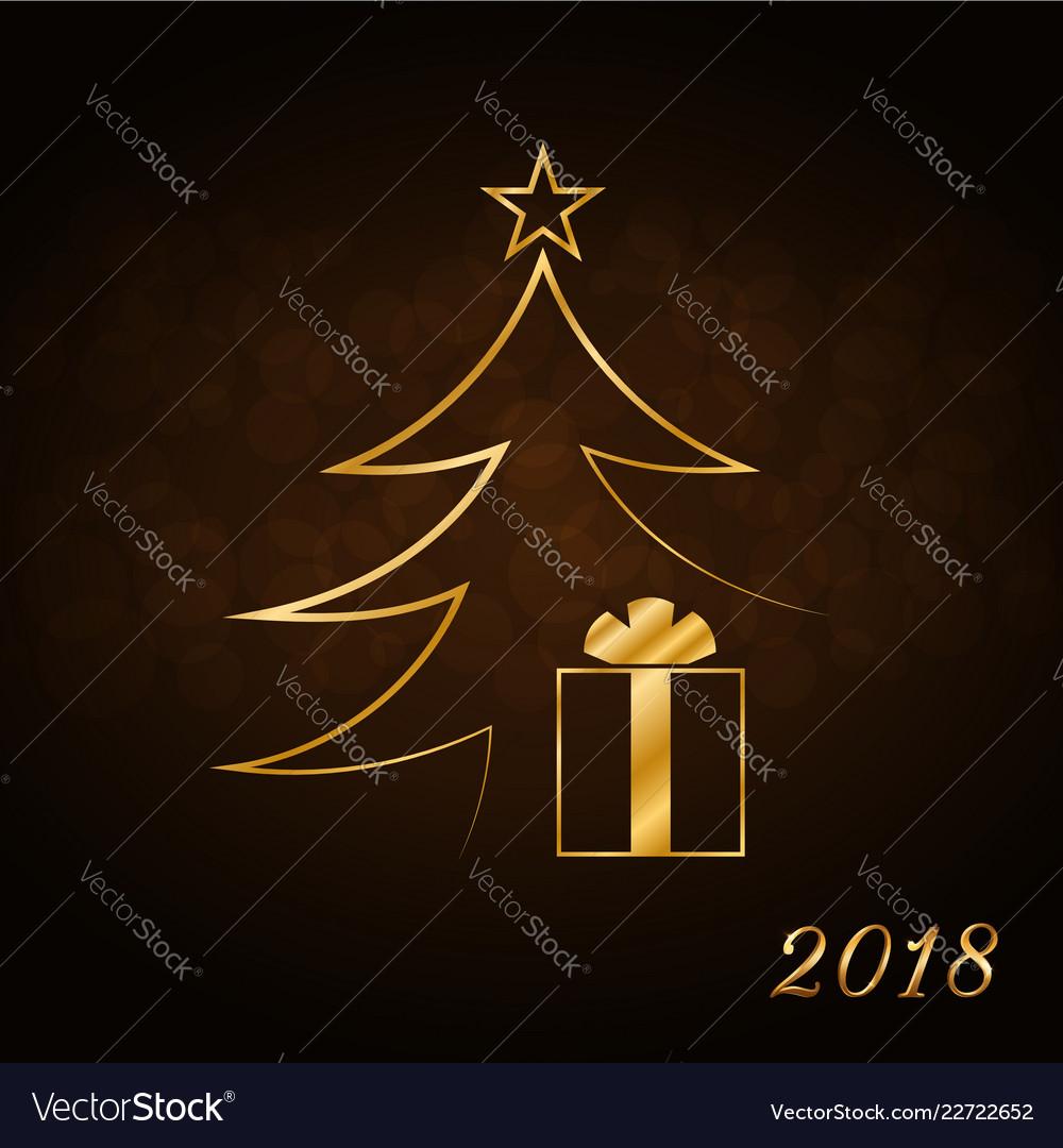 happy new year celebration background gold xmas vector image