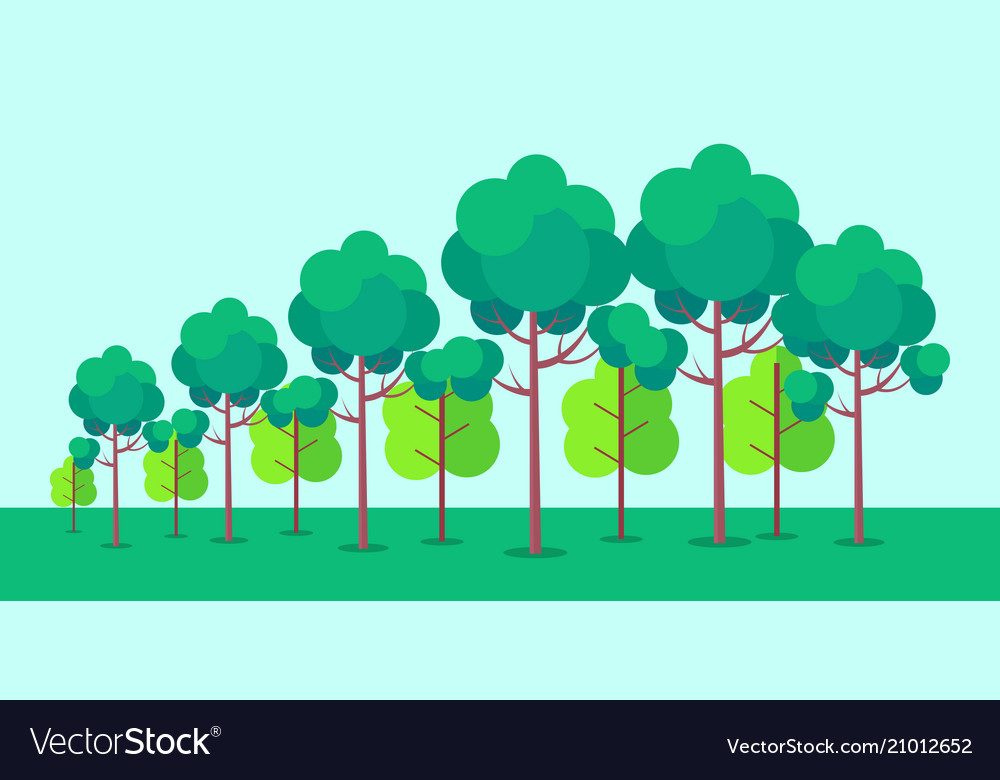Poster depicting forest trees