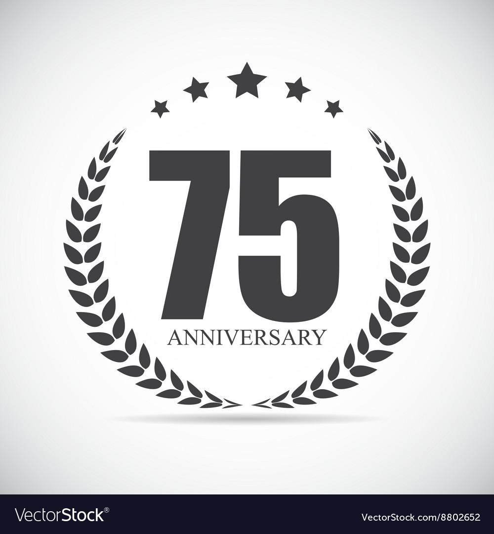 Template Logo 70 Years Anniversary