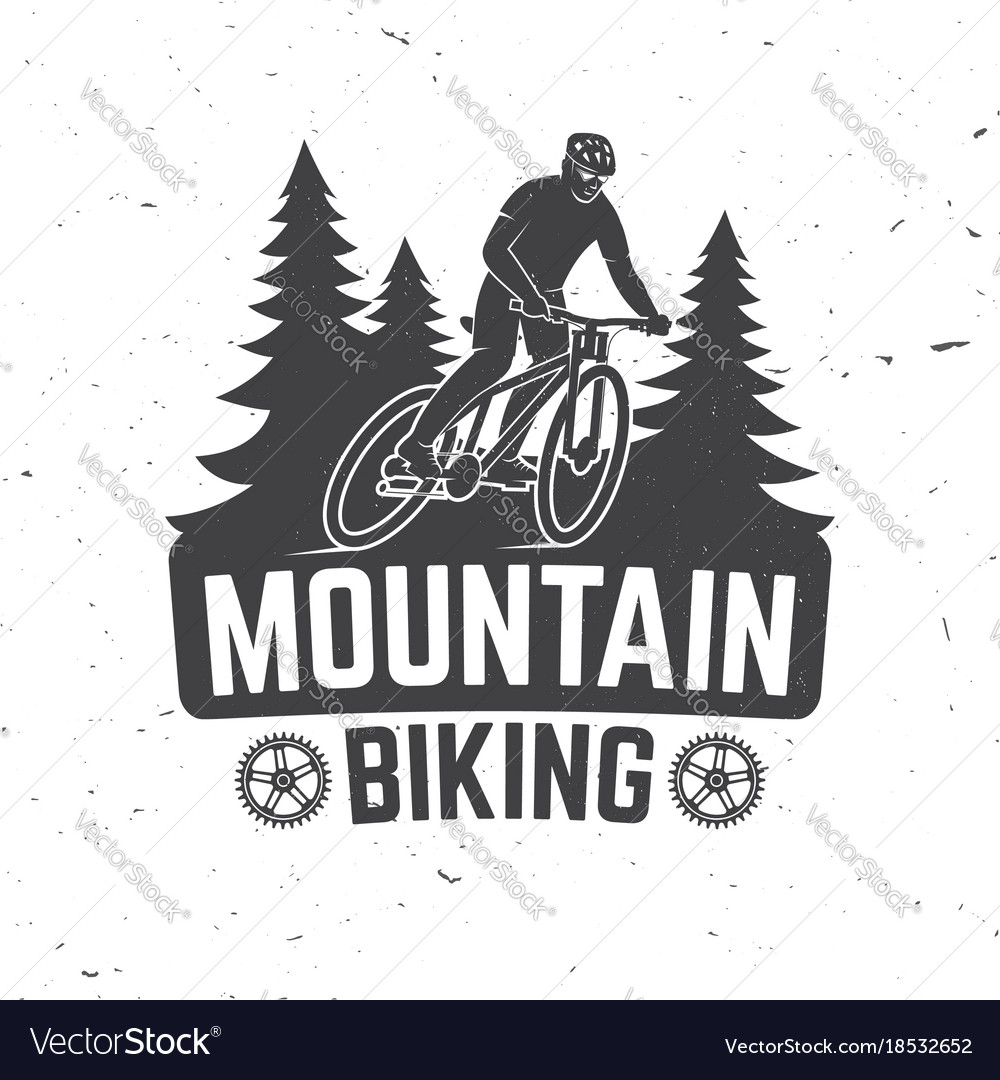 Vintage typography design with man riding bike and