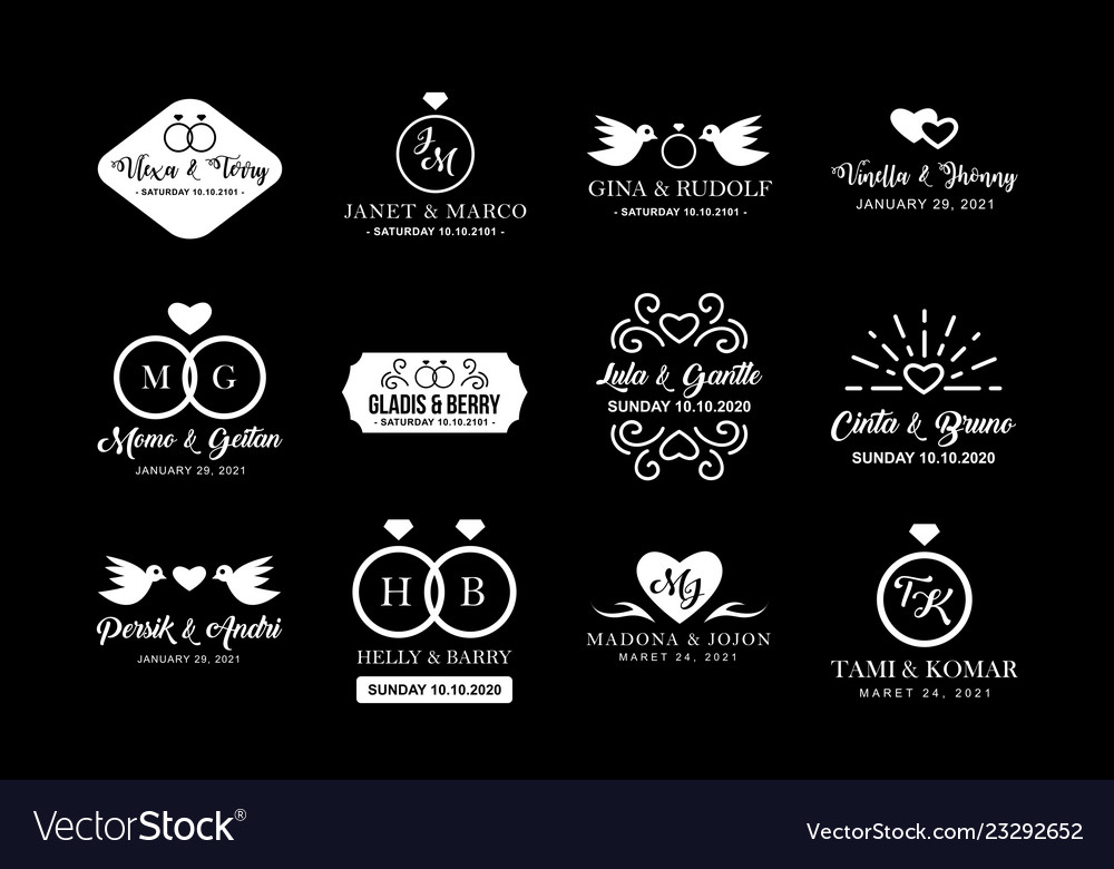 Wedding logo and badge good for print