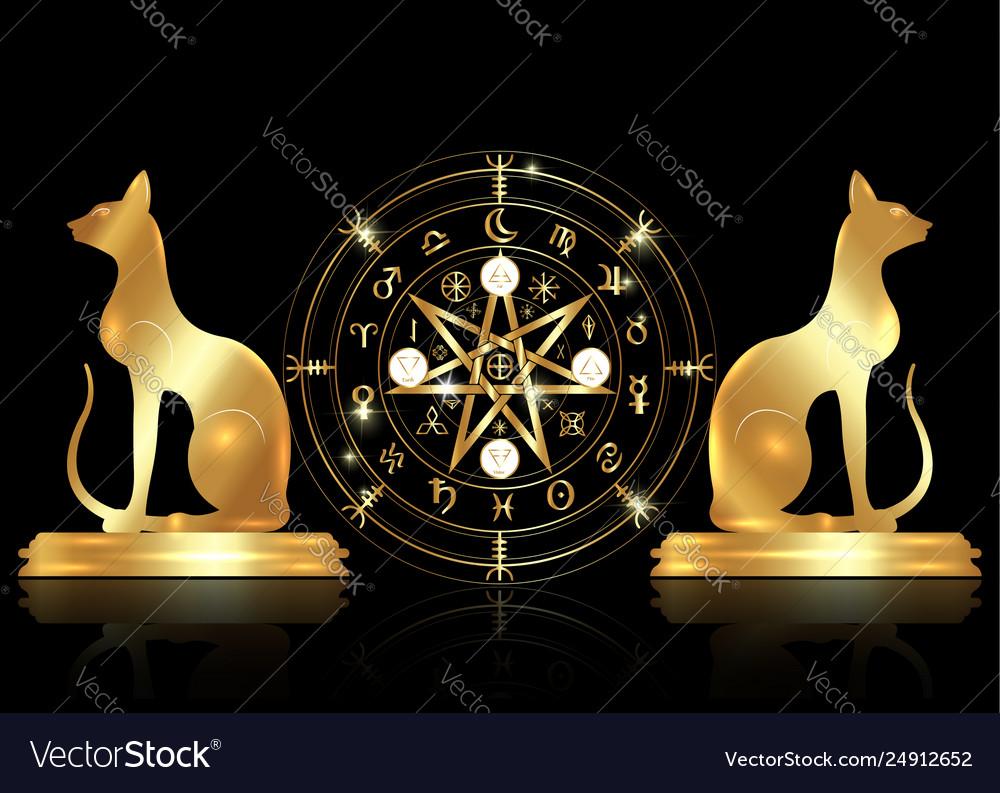 Wiccan symbol protection set mandala wicca