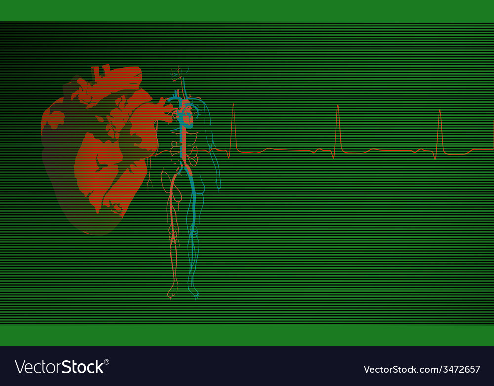 Cardiology background green
