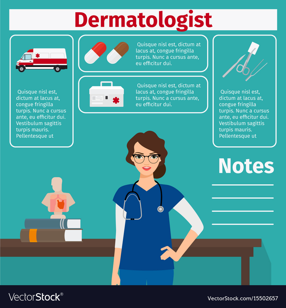Dermatologist and medical equipment icons