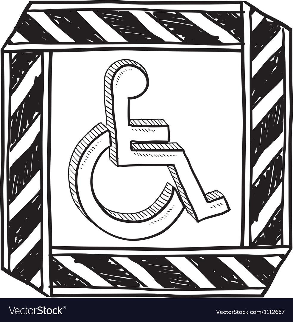 Doodle handicap symbol vector image