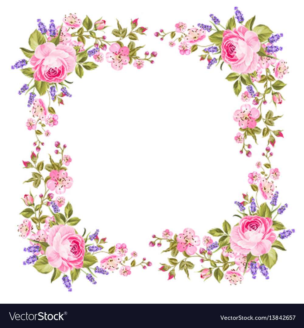 Spring flowers border royalty free vector image spring flowers border vector image mightylinksfo