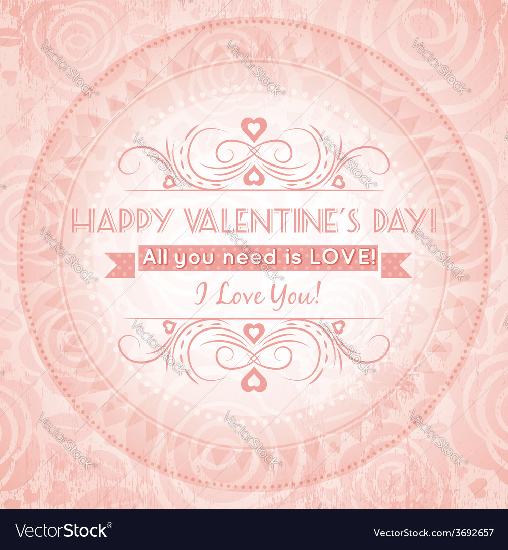 Valentines day greeting card with heart