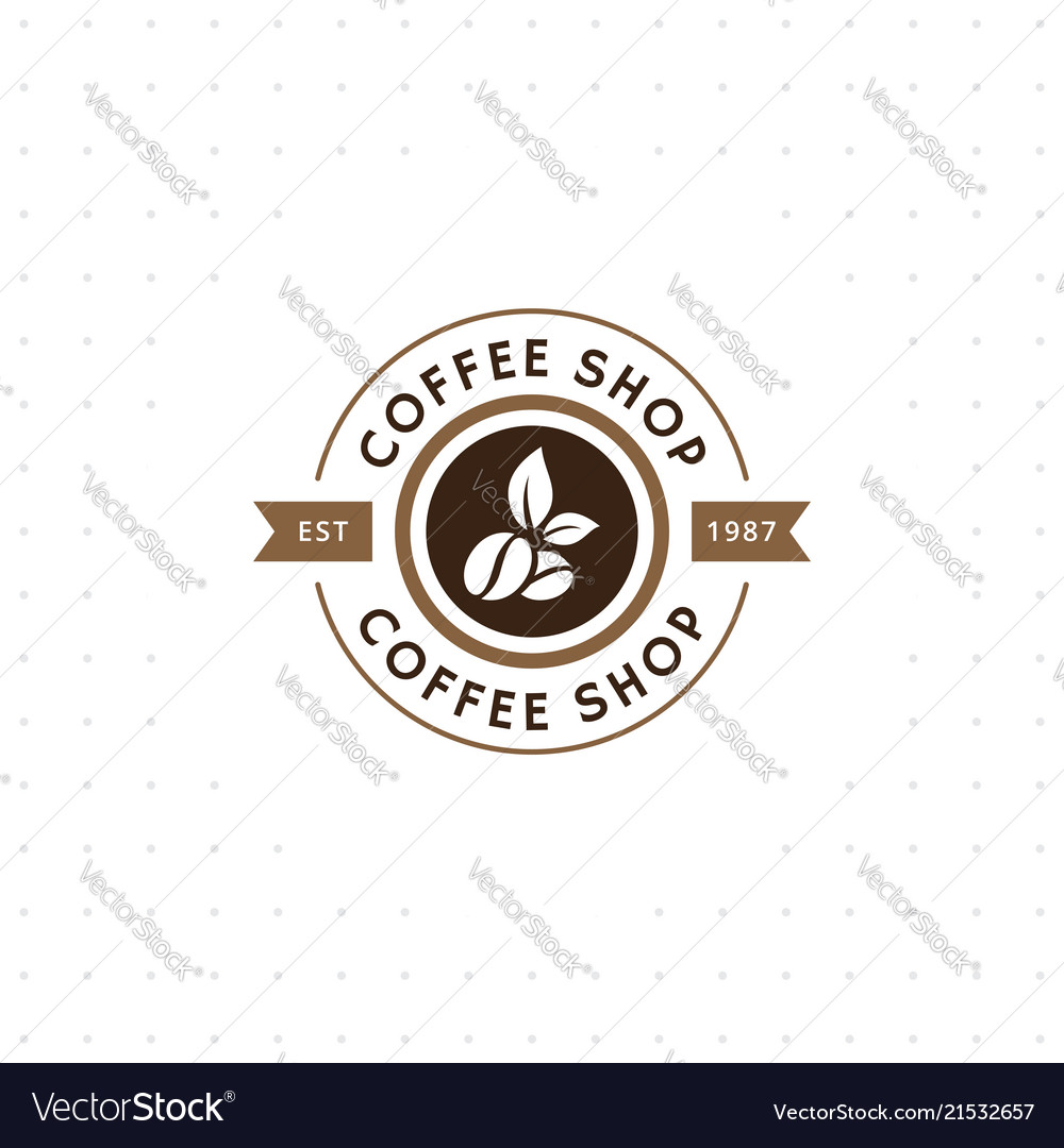 Vintage coffee logo and label