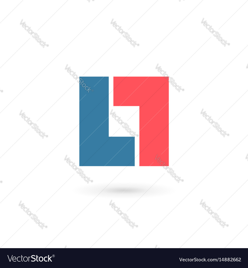 Abstract logo icon with letter l design template