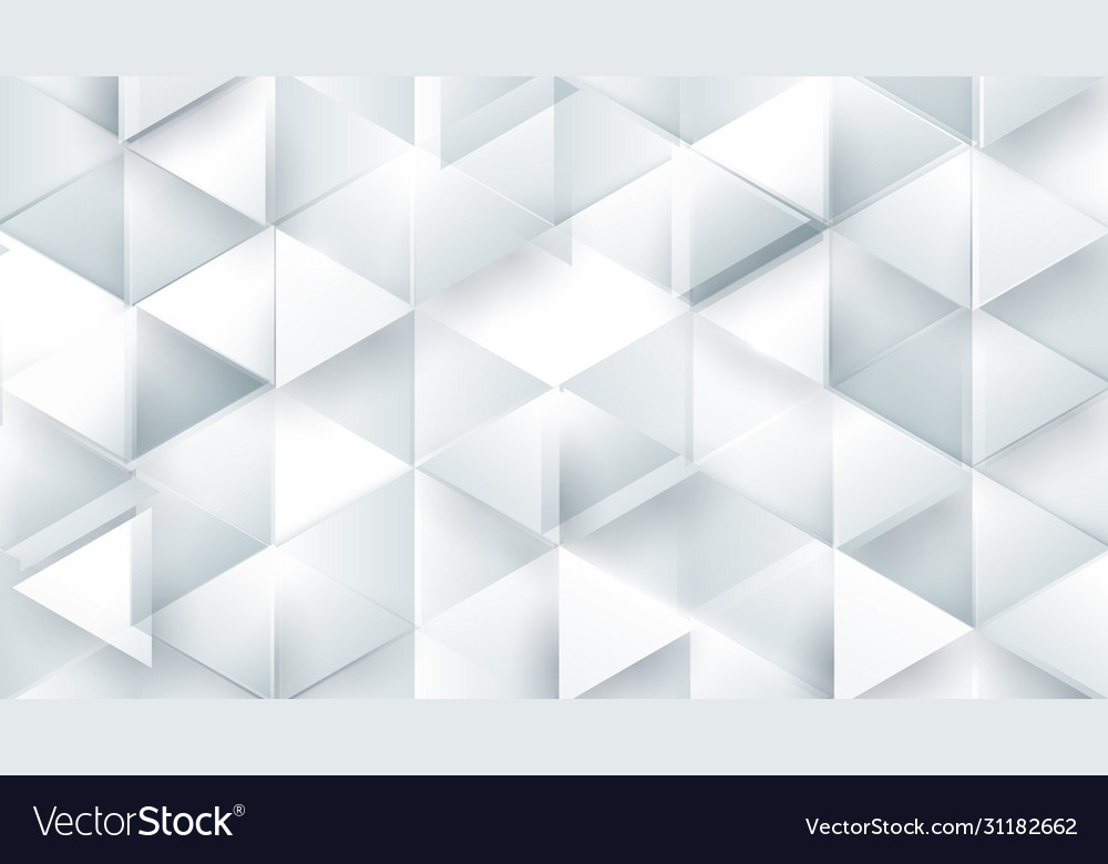 Abstract white polygonal triangle geometric 3d