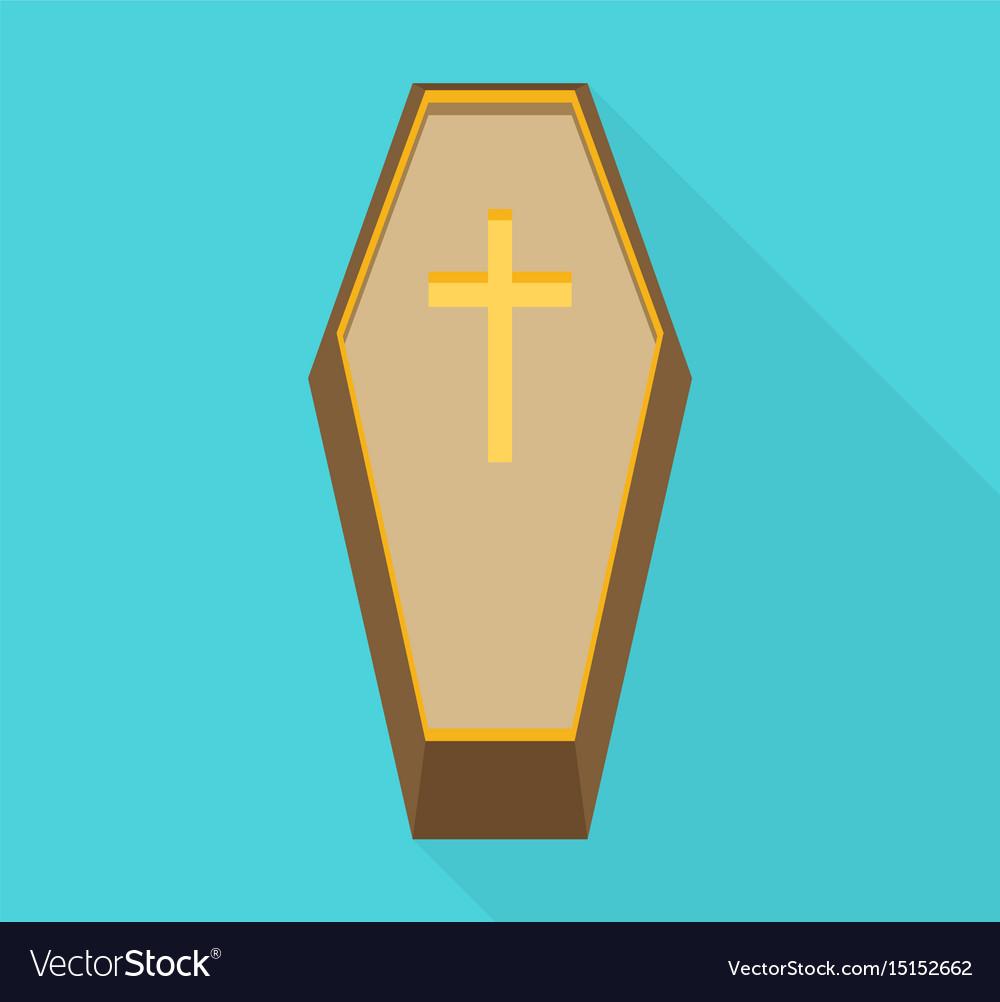 Coffin cross halloween flat