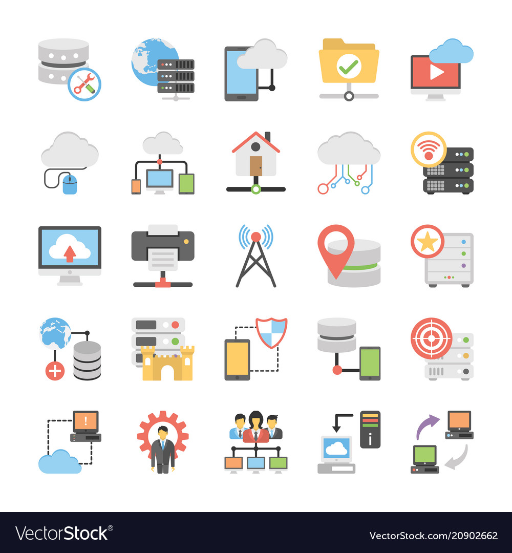 Communication colored icons