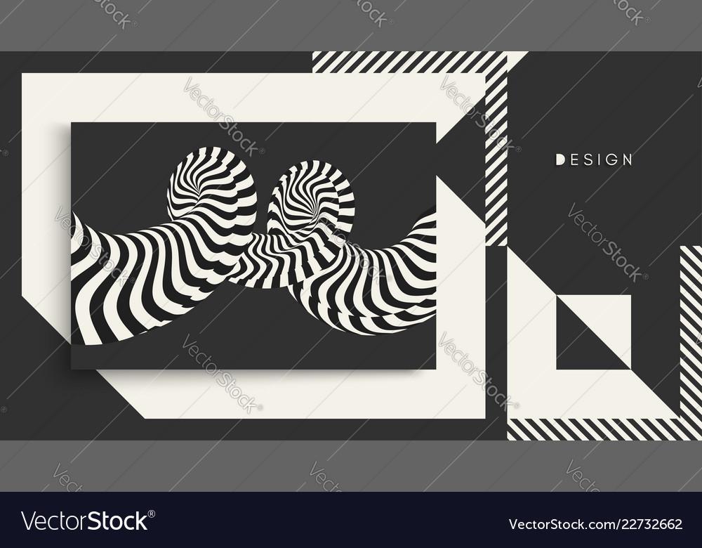 Cover design template pattern black white design