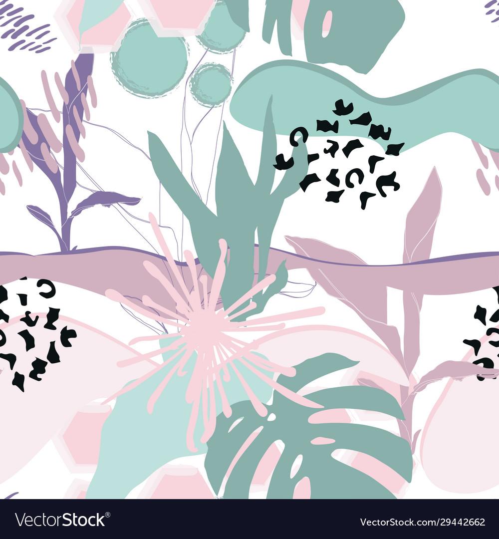 Floral Background Modern Fashion Design Royalty Free Vector