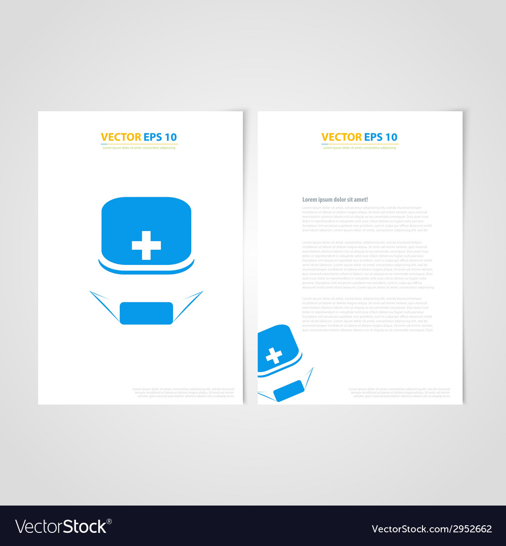 flyer template back and front design medical icons
