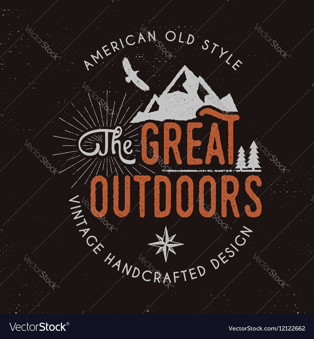 Great outdoors badge and outdoors activity