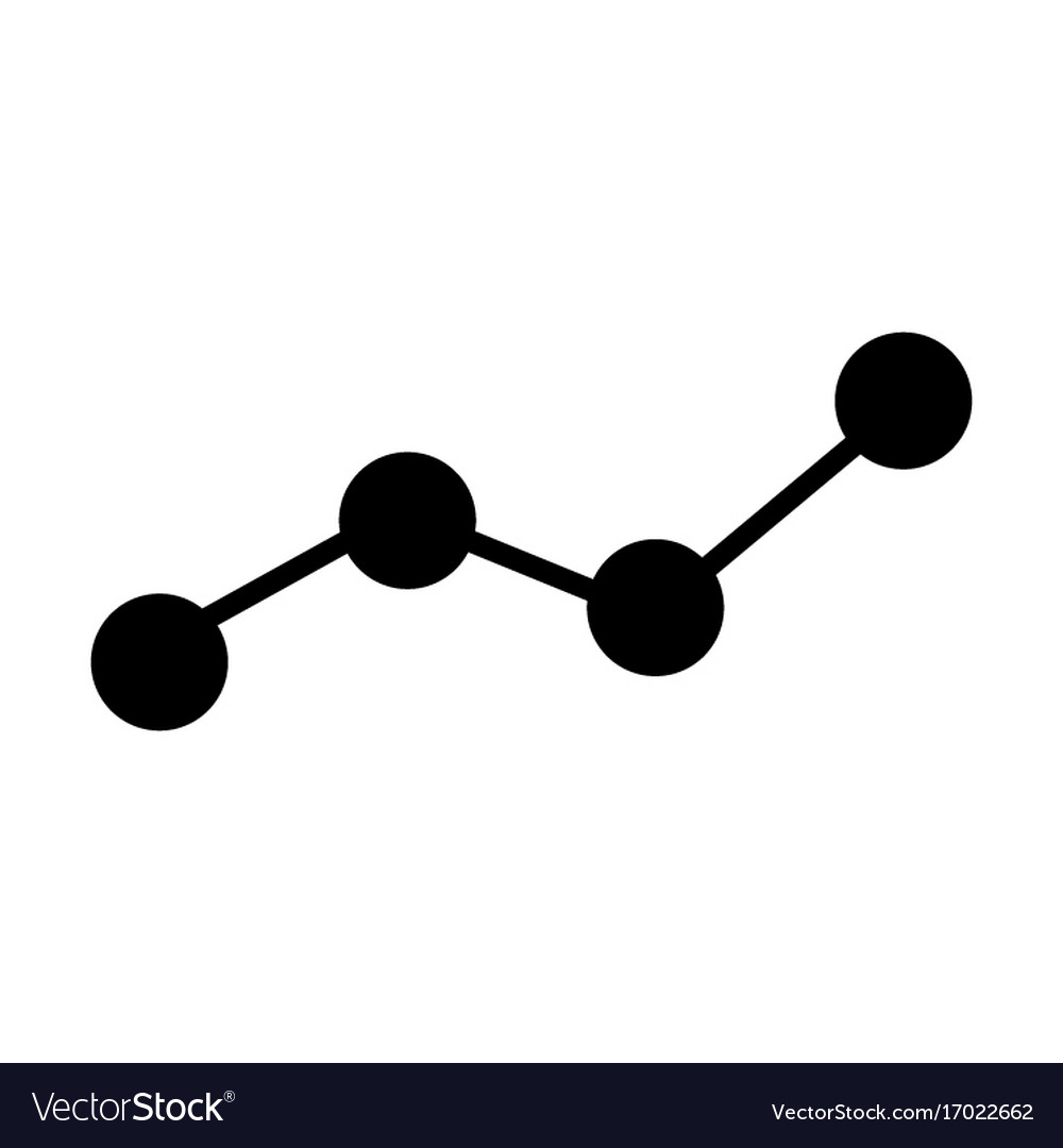 Growing business graph silhouette icon chart vector image