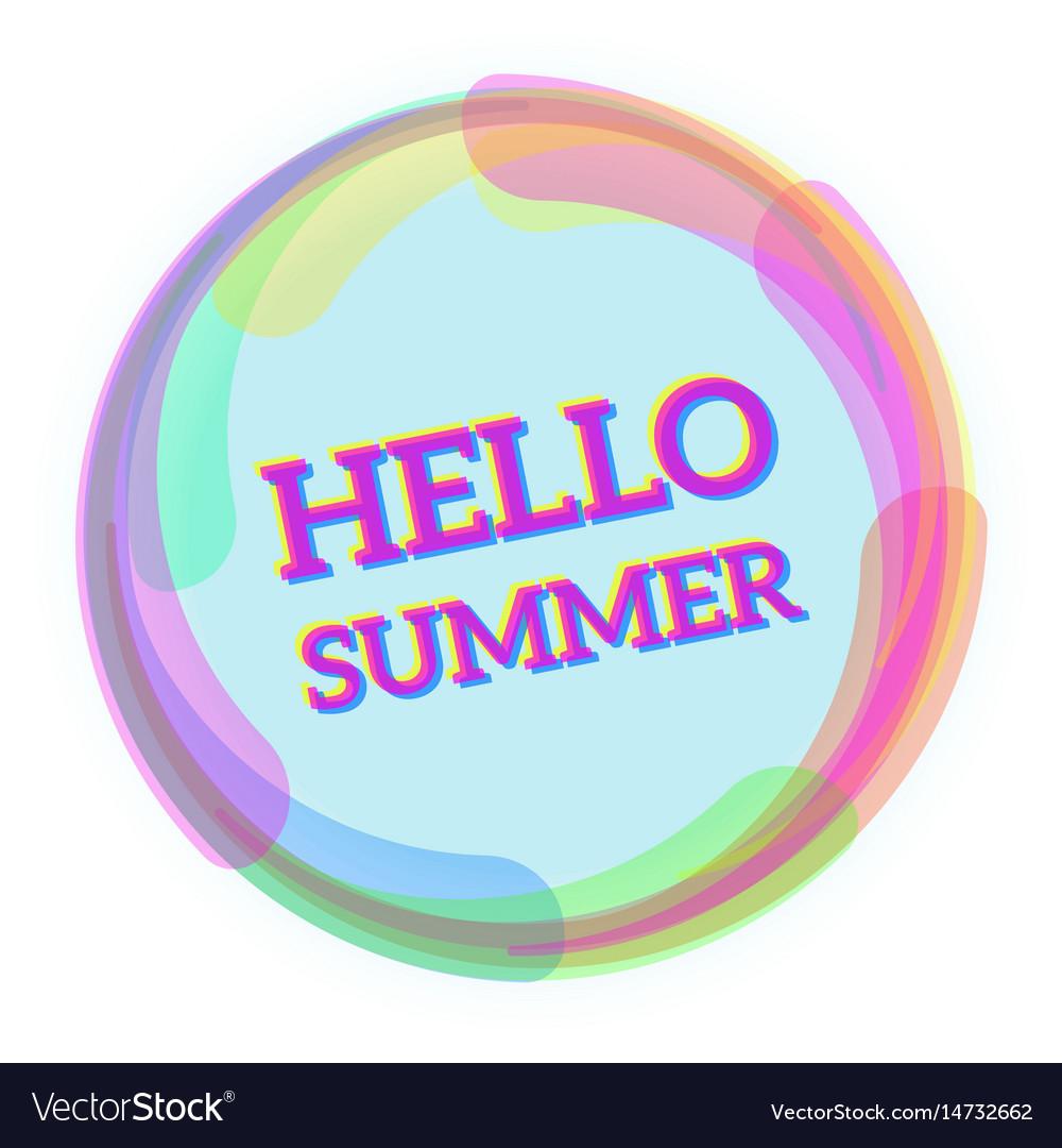 Hello summer message