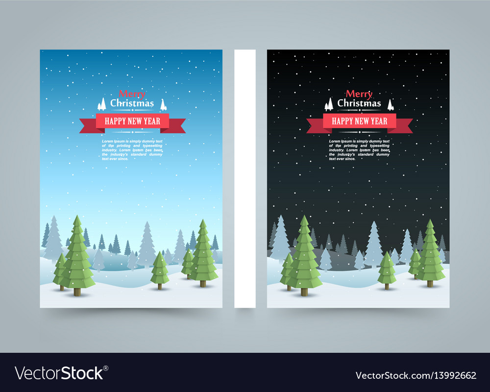 Mary christmas cover art happy new year flyer vector image
